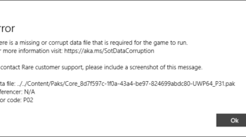 [FIXED] There is a Missing or Corrupt Data File Sea of Thieves
